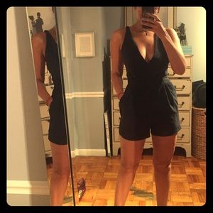 Deep V sexy romper from Maje